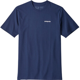 Patagonia P-6 Logo Shortsleeve Shirt Men blue